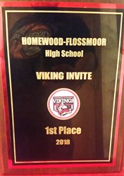 1st Place Plaque from the Homewood-Flossmoor Invitational